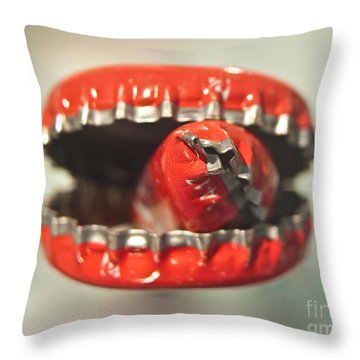 Cap Cannibal Throw Pillow by Bruce Stanfield