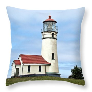 Throw Pillow featuring the photograph Cape Blanco Lighthouse by Nick Kloepping