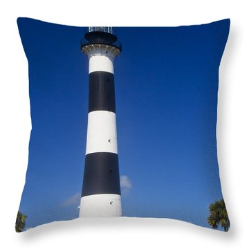 Cape Canaveral Lighthouse 2 Throw Pillow by Roger Wedegis