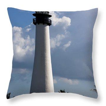 Cape Florida Lighthouse Throw Pillow by Ed Gleichman