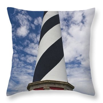 Cape Hatteras From Below Throw Pillow by Tim Mulina