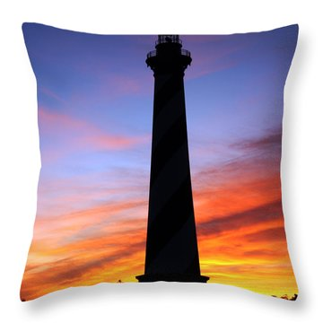 Cape Hatteras Sunset Throw Pillow by Tony Cooper