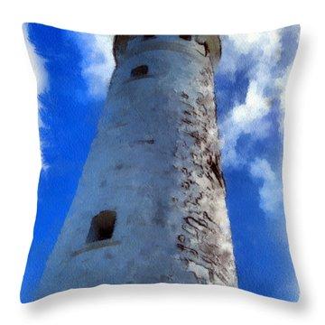 Throw Pillow featuring the digital art Cape Leeuwin Lighthouse by Roberto Gagliardi