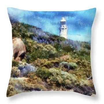 Throw Pillow featuring the digital art Cape Leeuwin by Roberto Gagliardi