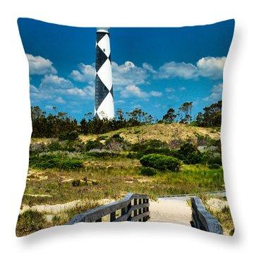 Cape Lookout Light Throw Pillow