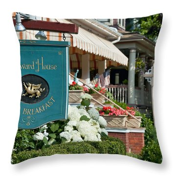 Cape May Bed And Breakfast Throw Pillow by John Greim