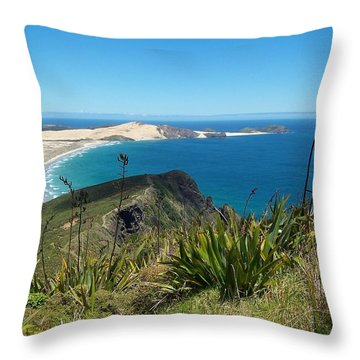Cape Reinga - North Island Throw Pillow by Peter Mooyman