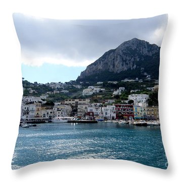 Throw Pillow featuring the photograph Capri 10 by Tanya  Searcy