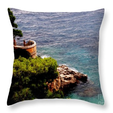 Throw Pillow featuring the photograph Capri  6 by Tanya  Searcy
