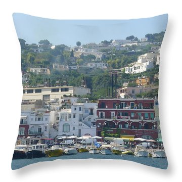 Throw Pillow featuring the photograph Capri  by Nora Boghossian