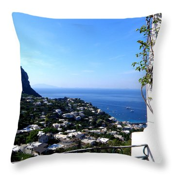Throw Pillow featuring the photograph Capri by Tanya  Searcy