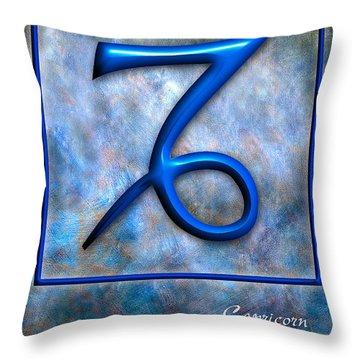 Capricorn  Throw Pillow by Mauro Celotti