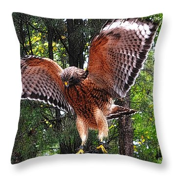 Throw Pillow featuring the photograph Captivity by Lydia Holly