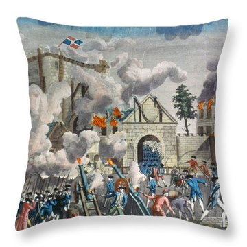 Capture Of Bastille, 1789 Throw Pillow by Granger