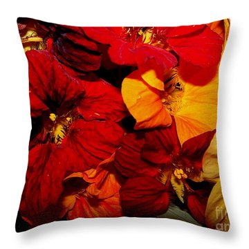 Capucines Throw Pillow by Sylvie Leandre