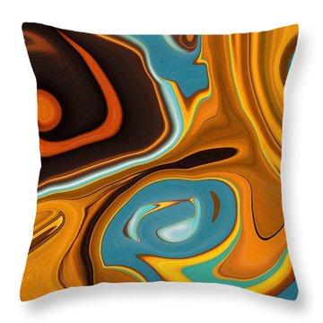 Caramel Dreams Throw Pillow by Renate Nadi Wesley
