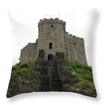 Cardiff Castle Throw Pillow