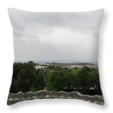Cardiff Castle Panorama Throw Pillow