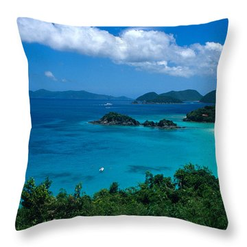 Caribbean Blue Throw Pillow by Kathy Yates