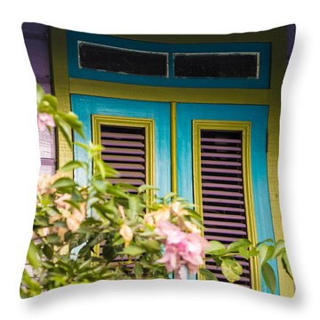Caribbean Blue Throw Pillow by Rene Triay Photography