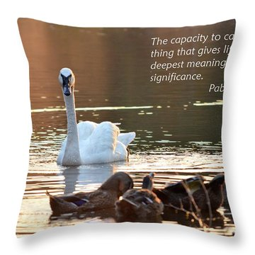Caring Throw Pillow by Maria Urso