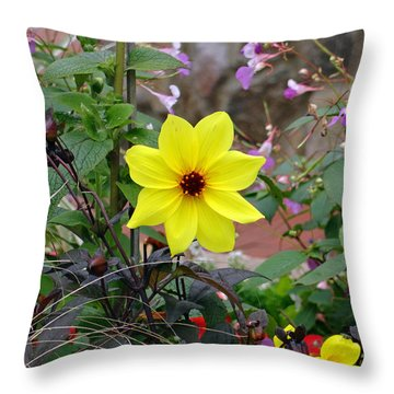 Carmel Yellow Throw Pillow