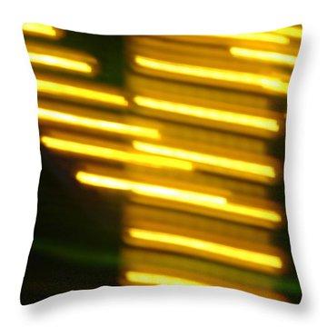 Carnival Blur Throw Pillow by Michelle Calkins
