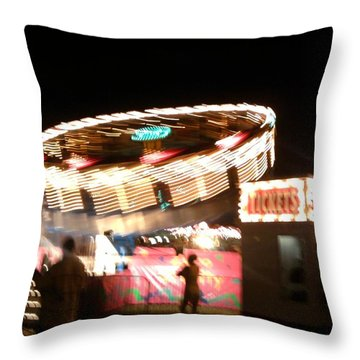 Throw Pillow featuring the photograph Carnival by Clara Sue Beym