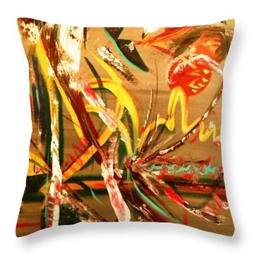 Carnival Collision Throw Pillow