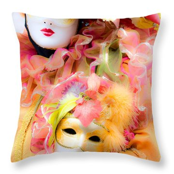 Throw Pillow featuring the photograph Carnival Mask by Luciano Mortula