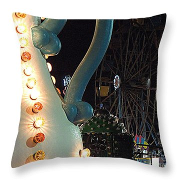 Throw Pillow featuring the photograph Carnivale by Renee Trenholm