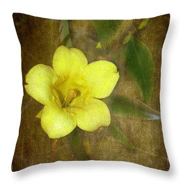 Carolina Jessamine Throw Pillow by Judi Bagwell