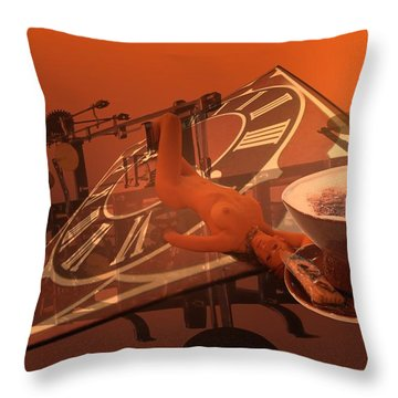 Carpecappuccino Throw Pillow by Helmut Rottler