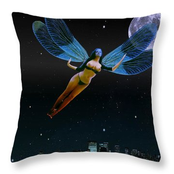 Carpenoctemny Throw Pillow by Helmut Rottler