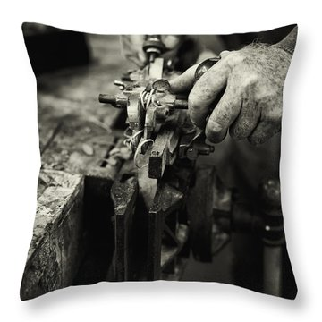Carpenter L Throw Pillow by Rob Travis
