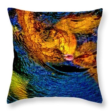 Carps In Motion Throw Pillow