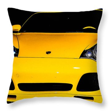 Carrera 4s Throw Pillow by Shannon Harrington