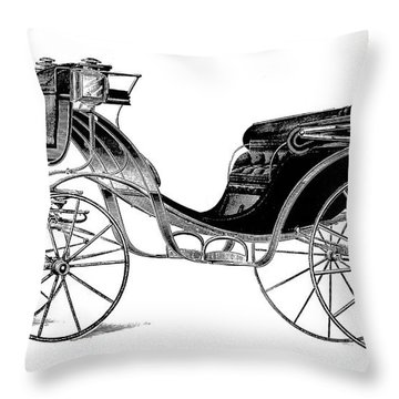 Carriage: Victoria Throw Pillow by Granger