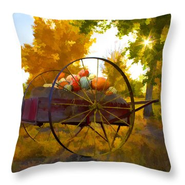 Cart Of Plenty Throw Pillow