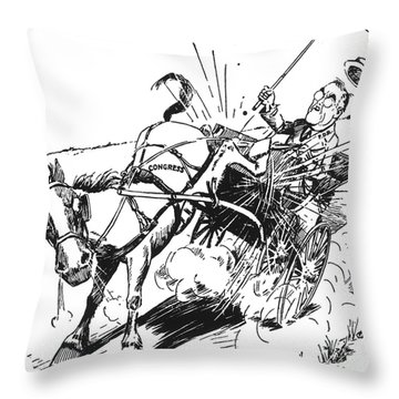Cartoon: Fdr & Congress Throw Pillow by Granger