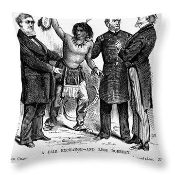Cartoon: Native Americans, 1876 Throw Pillow by Granger