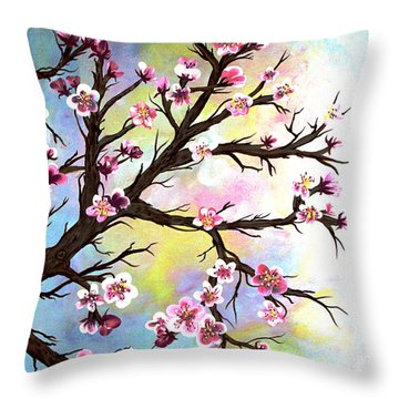 Carved In A Cherry Tree I I Throw Pillow by Barbara Griffin