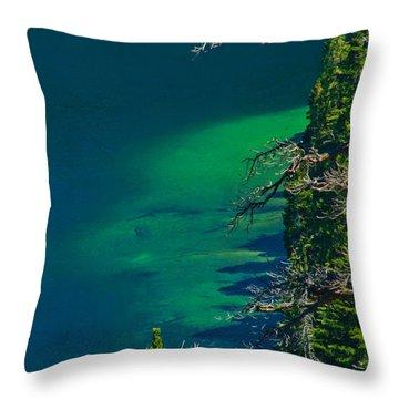 Cascade Lake Inlet Delta Throw Pillow
