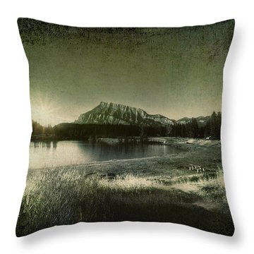 Cascade Pond Banff Throw Pillow