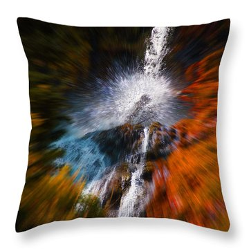 Cascade Waterfall Throw Pillow by Mick Anderson