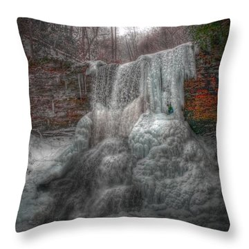 Cascades In Winter 3 Throw Pillow by Dan Stone