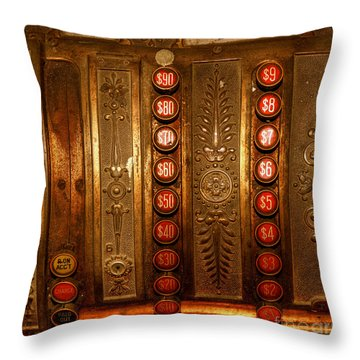 Throw Pillow featuring the photograph Cash Register by Trey Foerster