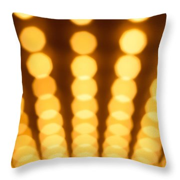 Casino Lights Out Of Focus Throw Pillow