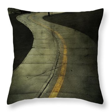 Casledowns Road  Throw Pillow by Jerry Cordeiro