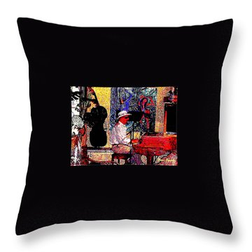 Casanova Throw Pillow by Sadie Reneau